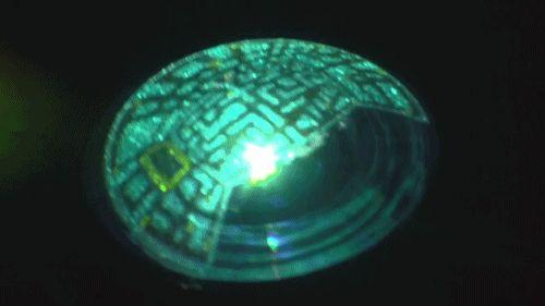 Fisheye Lens Showing the Pacman Maze