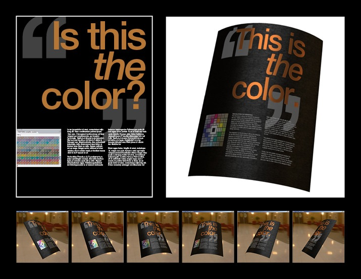 Spot Color Preview Tool For Specialty Color Treatments